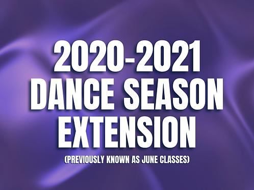 2020-2021 DANCE SEASON EXTENSION