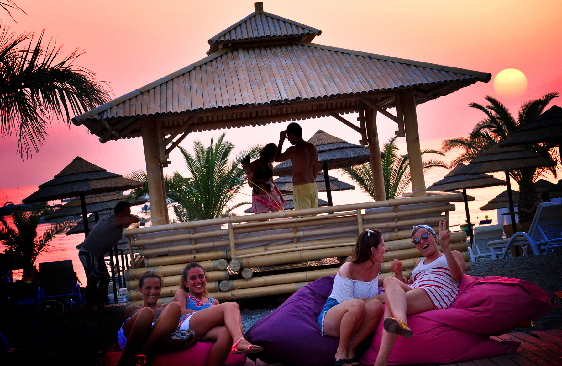 one of our gathering on the beach
