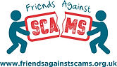 Friends Against Scams Logo (with website