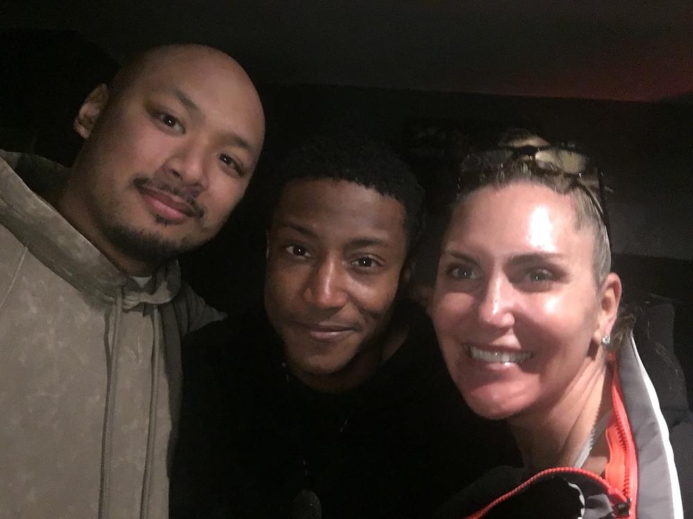 Audio Engineer Kyle Arizabal, Vocalist J.Mal, & Tina Setzer