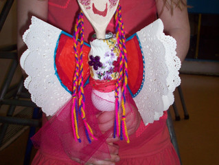 Puppet-making Workshop at a Holiday Club Norwich