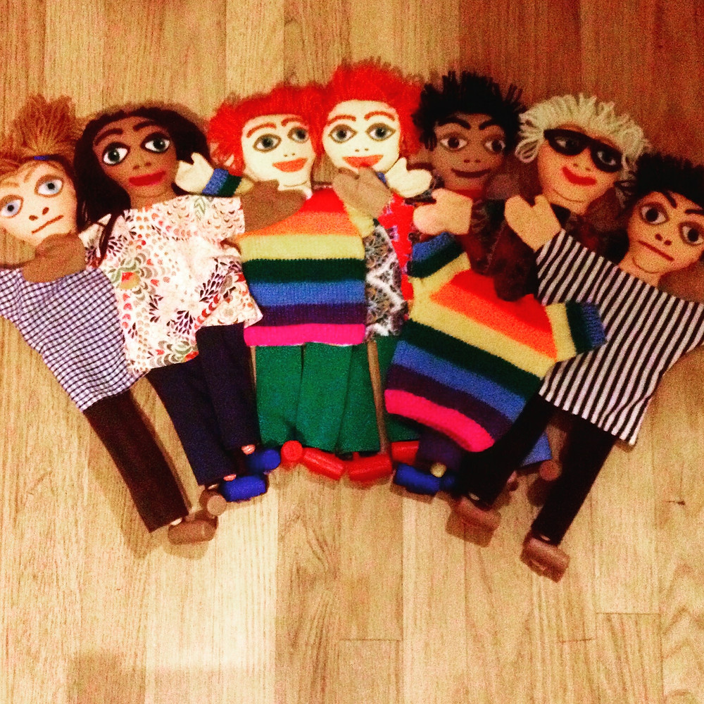 """The cast of """"Ruby's Rainbow Jumper"""""""