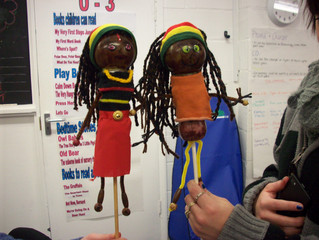 Child Care Learners make Puppets for young children