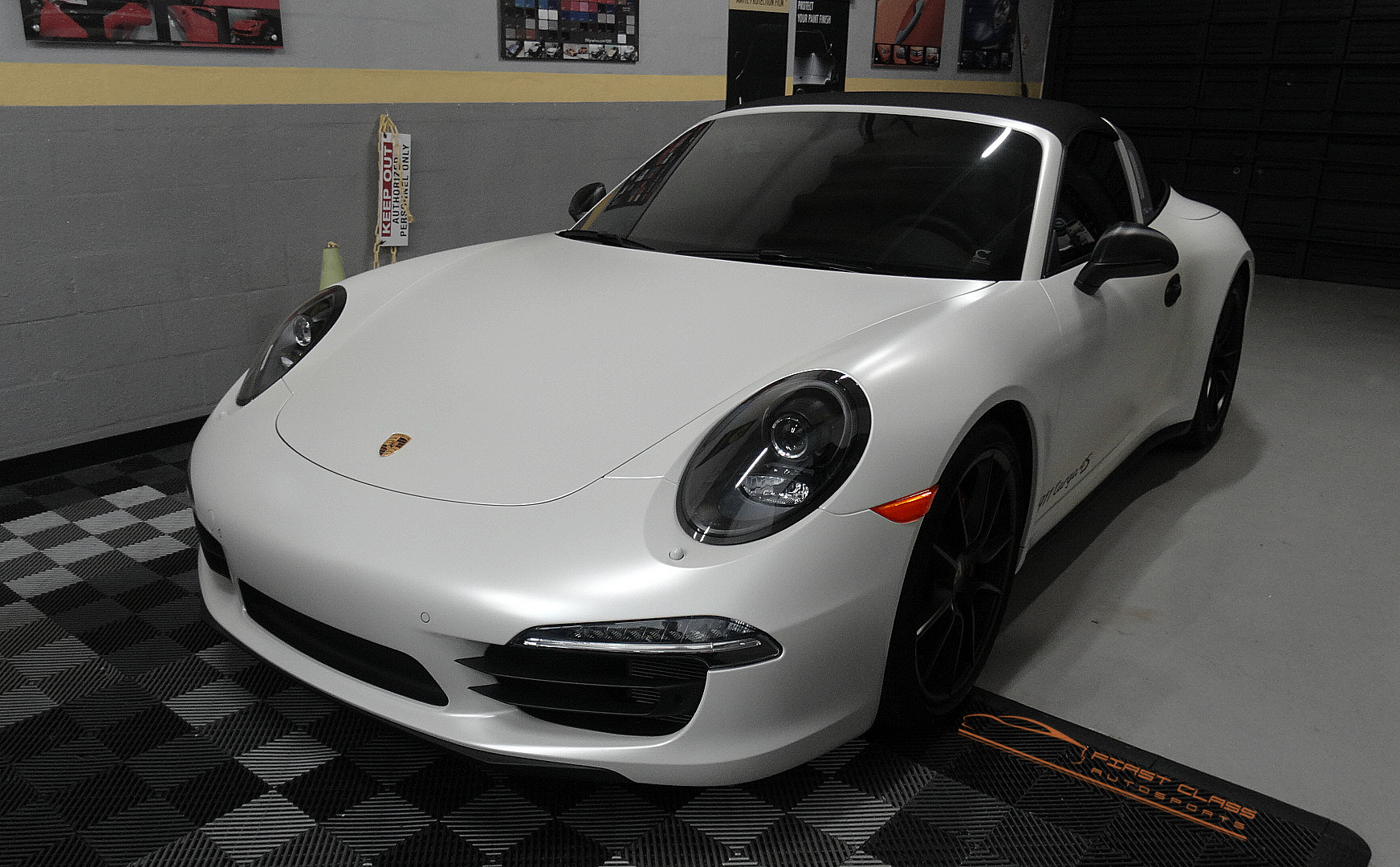 Porsche 911 Targa 4s Awd Full Body Wrapped By First Class
