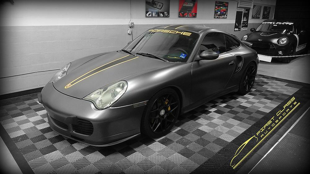 Porsche 911 turbo custom car wrap