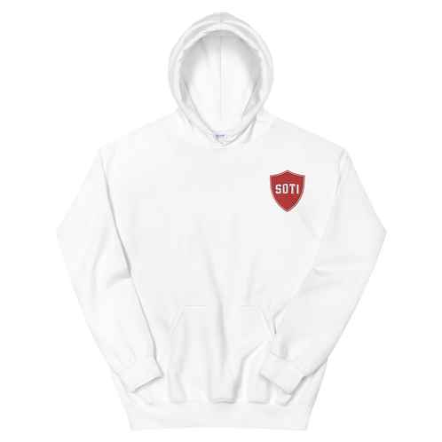 RED SHIELD LEFT CHEST HOODIE
