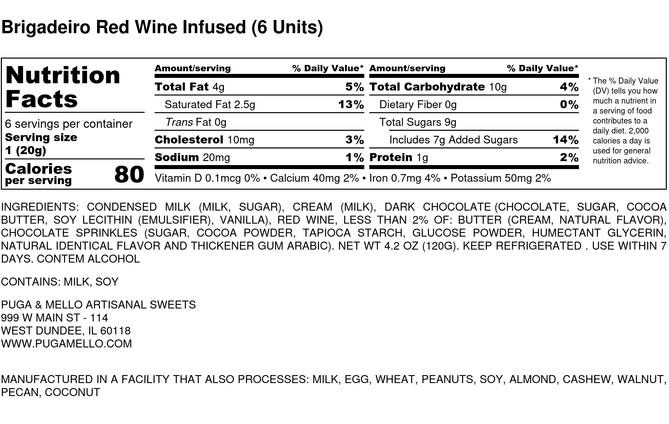 Brigadeiro Red Wine Infused (6 Units) -