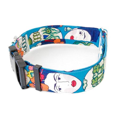 Blue Frida Sugar Skulls Collar
