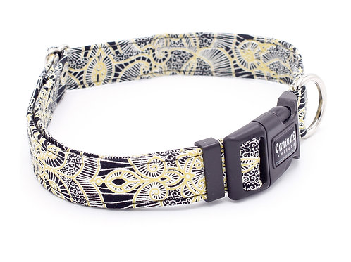 Black and Gold Filigree Collar