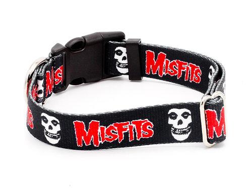 """Misfits """"Fiend Skull"""" 5/8"""" Wide Cat Collar"""