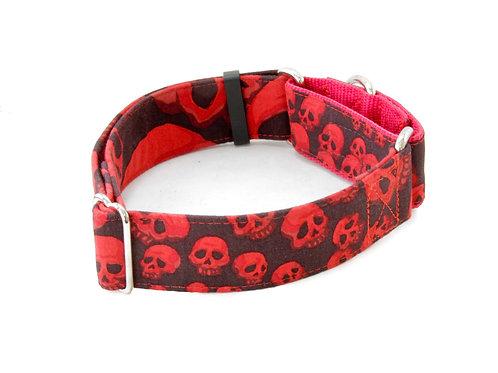 Red Infinity Skulls Collar