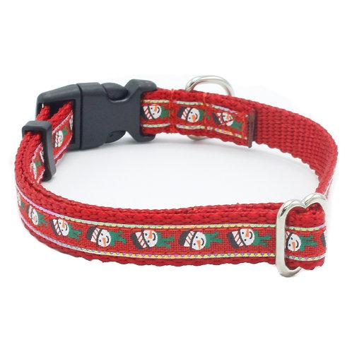 "Snowman Dog Collar 5/8"" Width"