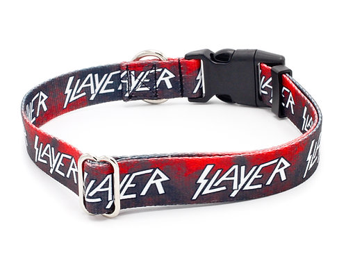 "Slayer Repeat Logo 5/8"" Wide Cat Collar"