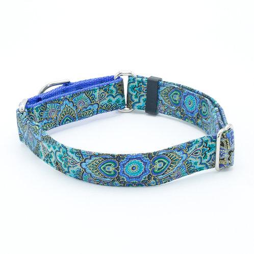 Aquamarine Blooms Cat Collar