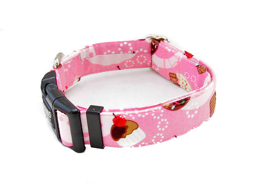 Pink Cupcakes and Cherries Cat Collar