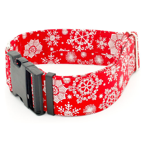 Red Holiday Snowflake Collar