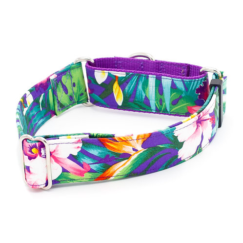 Purple Hawaiian Flowers Collar
