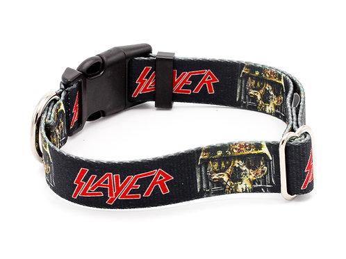 Slayer Skull Dog Collar