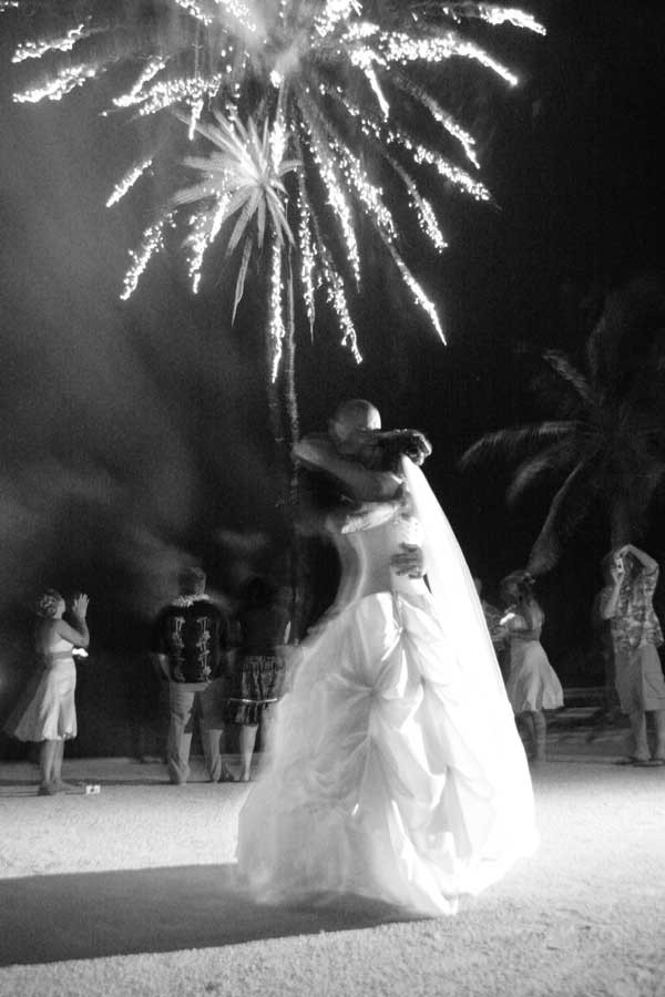 florida keys wedding fireworks