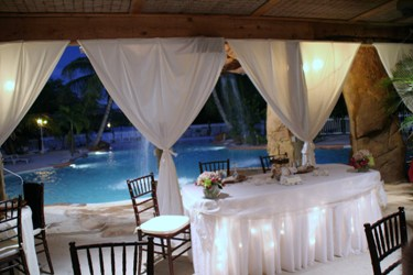 Key West beach reception
