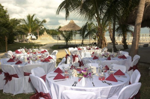 beach wedding reception1