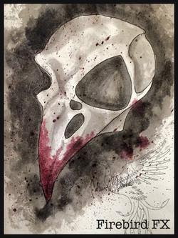 Bird mask sketch