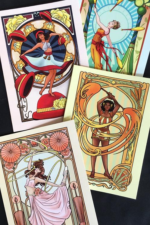 4-Pack Goddess Greeting Cards
