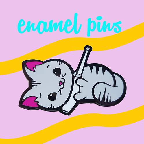 Kitty Club Enamel Pin