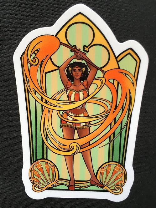 Tristan & Fire Sticker