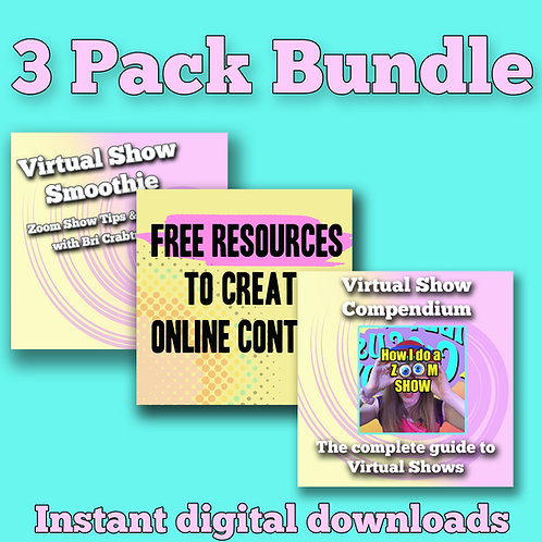3 Pack Bundle Virtual Show Resources
