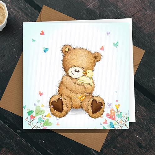 Hugs! Greetings Card