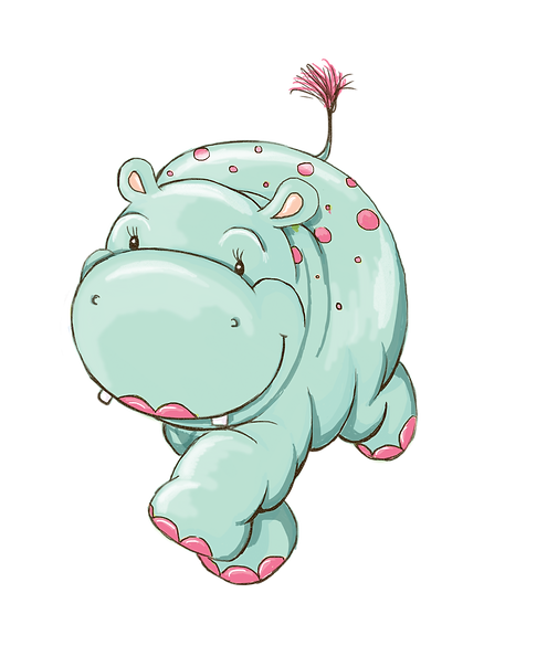 Hippo running pink tail.png