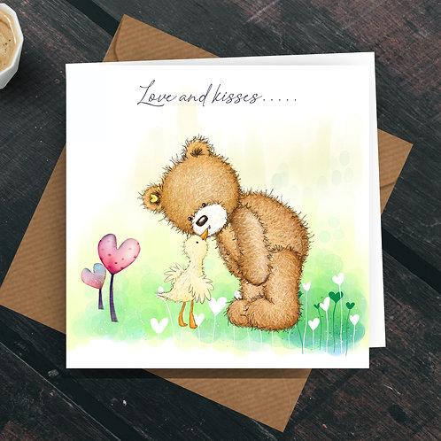 Love  & Kisses Greetings Card