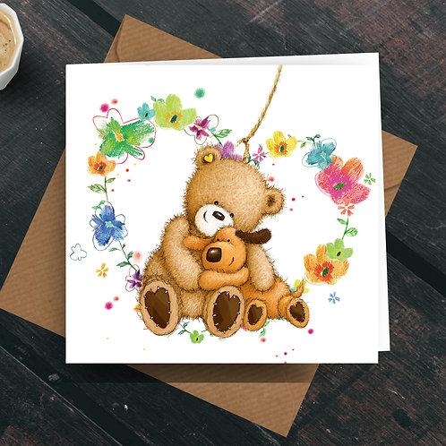 Love & Hugs Greetings Card
