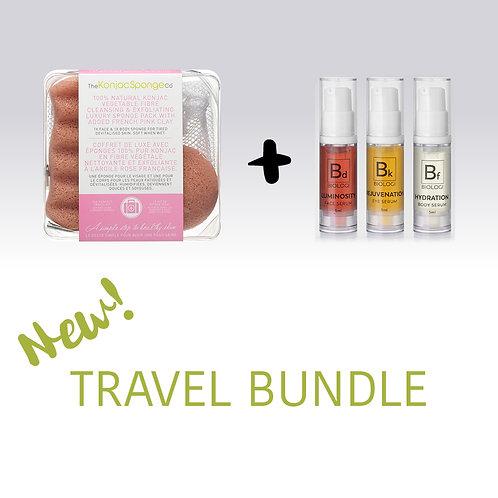 Travel Bundle: Konjac Travel Kit & Biologi Mini Pack