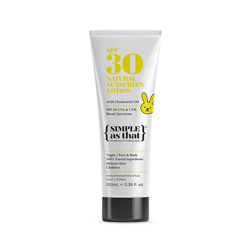 100% Natural Children's Sunscreen Lotion
