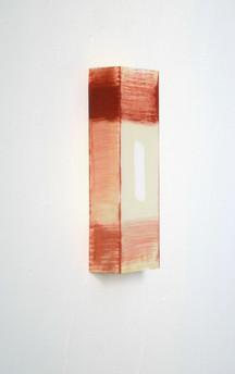 Until Orange hits 2, Oil on Paper, 29.7×10.5×5.5 cm, 2019