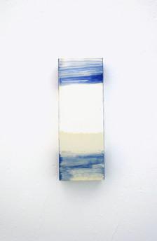 Until Orange hits 1, Oil on Paper, 29.7×10.5×5.5 cm, 2019