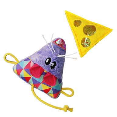 KONG Cat Crackles & Cheese Mouse 2-Pack