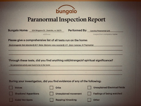 Realtor Offers Paranormal Investigations of New Homes