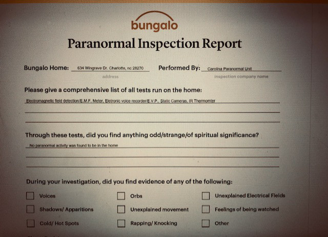 haunted inspection