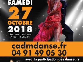 Open Festival de Danse Sportive au palais des Sports de Marseille (13) le Samedi 27 Octobre 18