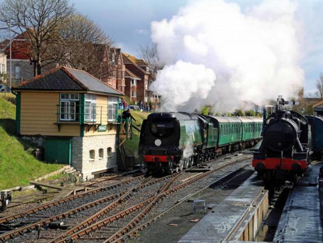 Mini steam train event in Swanage for August bank holiday