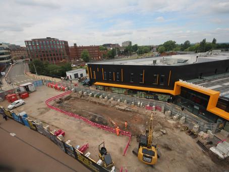 Tram work on track at Wolverhampton