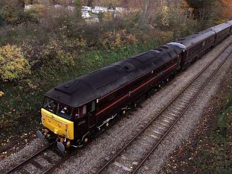 Royal Train carrying the Queen seen travelling through Devon and Somerset