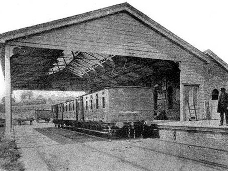 The Next train to Depart  Will be the 1872...