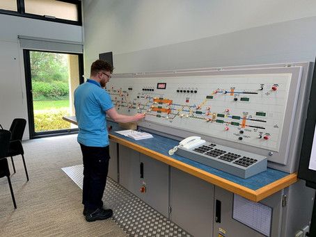 Network Rail's 3000th apprentice takes up his station at Suffolk signal box