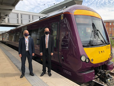 Rail Minister praises emission reduction technology trialled by EMR