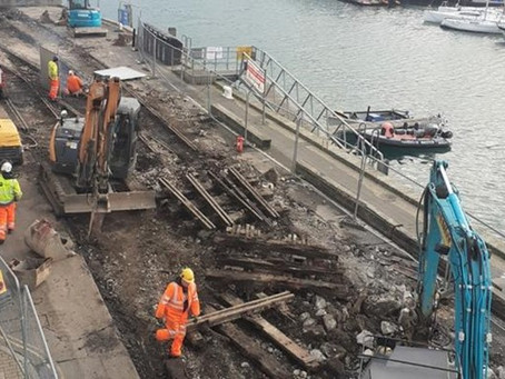 Work to remove Weymouth harbour rail lines stops as lockdown ends