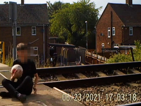 Shocking footage released of children playing on live railway lines